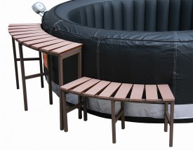 Wicker surround spa furniture