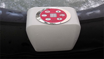 Inflatable spa control panel